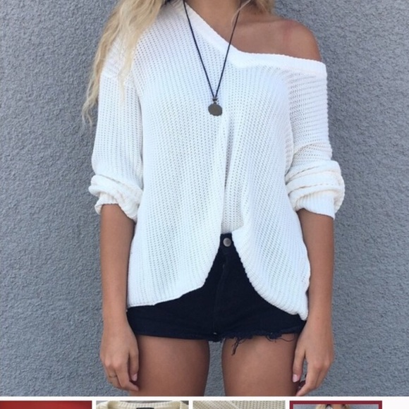 Brandy Melville Sweaters - Brandy Melville Cream Colored Lance Sweater